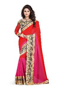 Designer Embroidered Border Work Georgette Saree with Blouse MFS-7