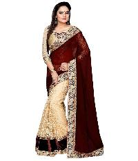 Designer Embroidered Border Work Georgette Saree with Blouse MFS-5