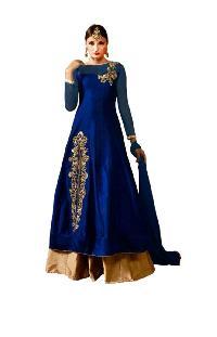 Exclusive Designer Blue Tapeta Silk Un-Stitched Dress material MFD-37