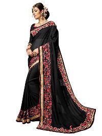 Partywear Black Georgette Saree with Bhagalpuri Silk Blouse MFS-21