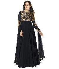 Partywear Unstitched Dress Material With Embroidered Work Mfd-26