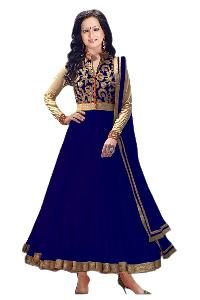 Partywear Unstitched Dress Material With Embroidered Work MFD-9