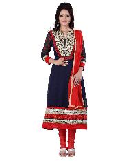 Partywear Unstitched Dress Material With Embroidered Work MFD-7