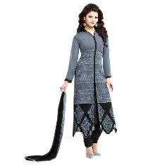 Partywear Unstitched Dress Material With Embroidered Work MFD-6