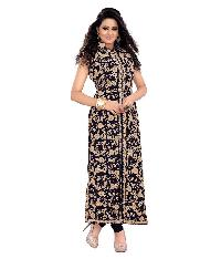 Partywear Unstitched Dress Material With Embroidered Work MFD-5