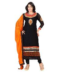 Partywear Unstitched Dress Material With Embroidered Work MFD-4