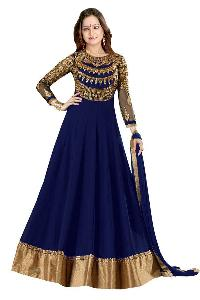 Partywear Unstitched Dress Material With Embroidered Work MFD-3