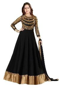 Partywear Unstitched Dress Material With Embroidered Work MFD-2