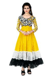 Partywear Unstitched Dress Material With Embroidered Work MFD-1