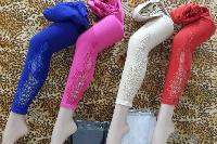Knee Patch Work Cotton Lycra Leggings
