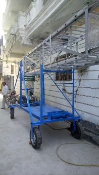 Aluminium Tiltable Tower Ladder Large Wheel