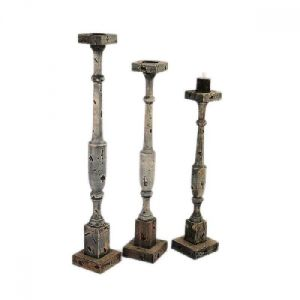 Antique Candle Holder S/3