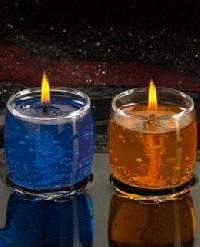 Glass Gel Candles