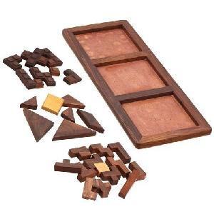 3 in 1 Large Wooden Puzzle Game