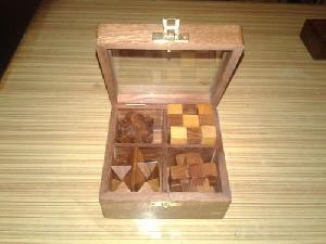 4 in 1 Wooden Puzzle Game