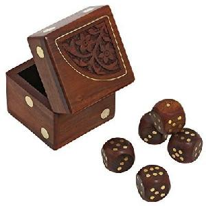Wooden Dice Boxes