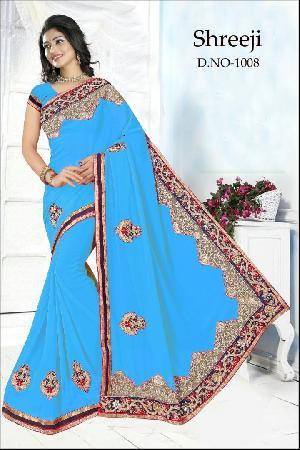 Mirror Diamond Work Blouse-bangalori Designer Saree