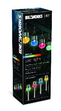 Set Of 4 Solar Garden Lights