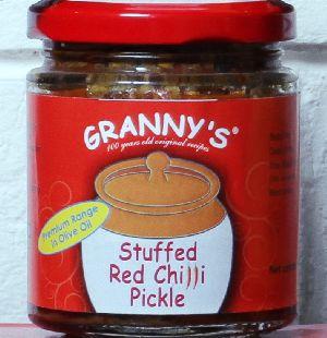 Stuffed Red Chilli Pickle
