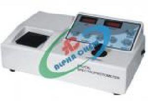 Spectrophotometer Dual Display Digital Data Reading