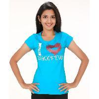 Blue Shopping Womens Wear T Shirts