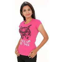 Pink Wakeup Womens Wear T Shirts