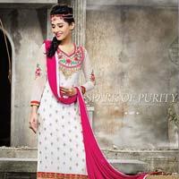 Sem379  Nazia Amrita Rao Vol 3 Long Straight Pakistani Semi Stitch