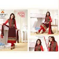Straight Cut Georgette Fancy Salwar Suit