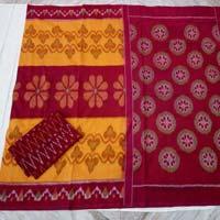 Pochampally Double Ikkath Cotton Saree.
