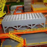 Wooden Offshore Oil and Gas Platform Model