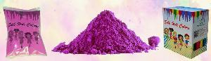 Cosmetic Silk Purple Holi Colors