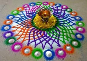 Silk Rangoli Colors