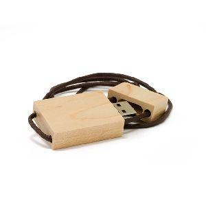Usb Flash Drive Wooden Key Chain