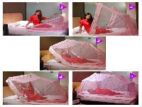 5ft x 6 1/ 4ft Double Bed Comfort Mosquito Net