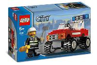Lego 7241 City Fire Car New/sealed