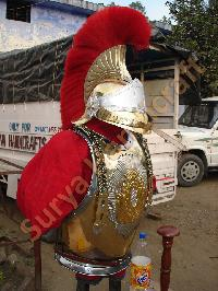 Medieval Body Armor With Helmets