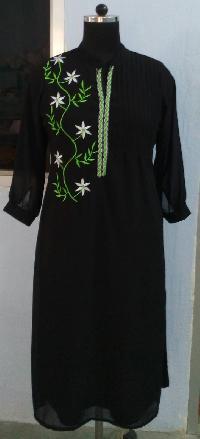 Embroidered Chiffon Designer Kurtis