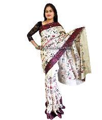 Multi Color Tussar Silk Saree