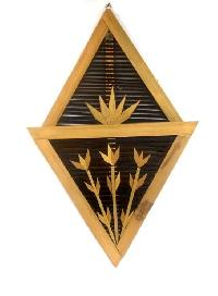 Bamboo Triangular Letter Box