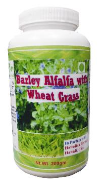 wheat grass barley alfalfa powder