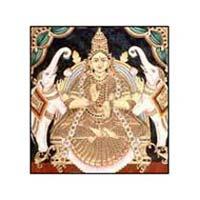 Handmade Lakshmi Mata Tanjore Painting