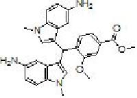 4-[Bis-(5-amino-1-methyl indol-3-yl) methyl]-3-methoxy benzoic acid methyl ester