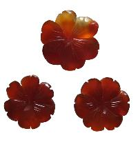 Red Onyx Carving Flowers