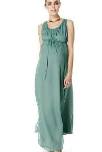 Ladies Chiffon Green Maxi Dress
