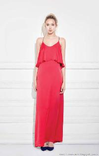 Ladies Red Long Maxi Dress