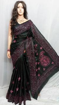 Bhagalpur silk sarees .Full hand work sarees