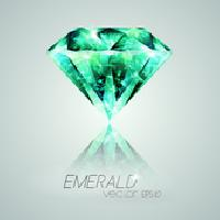Round Diamond Cut Emerald Stones
