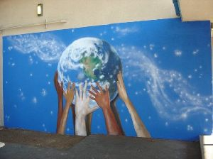 Nursery School Wall Painting Artist