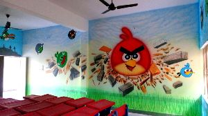 playschool wall painting
