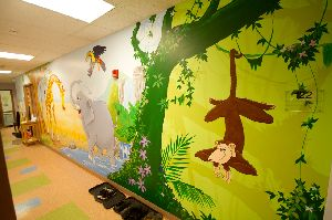 primary school wall paintings services